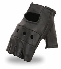 First Manufacturing Mens Lightweight Leather Fingerless Riding Gloves FI160GL