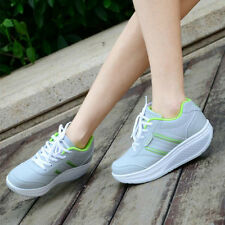 Height Increasing Lady Fitness Shoes EU 35-40 Breathable Mesh Women Swing Shoes