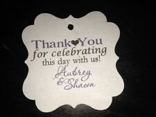 Wedding Favor Tags Square Personalized Thank You For Celebrating Buy 2 Get 1