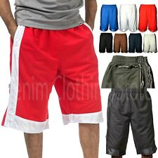 1 NEW PROCLUB MEN HEAVY WEIGHT BASKETBALL STYLE MESH SHORTS PANTS SIZE S - 7XL