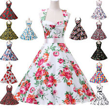Vintage Rockabilly 50er 60er Jahre Petticoat Polka Dot Retro Dirndl Pin Up Robe
