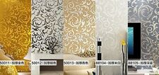 High-grade European Style Acanthus Leaf TV Setting Bedroom Wall Paper GBW