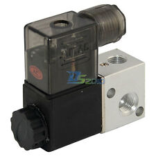 "new 3 way 2 position Solenoid Valve Air BSP1/8"" DC/AC Direct Pneumatic Electric"