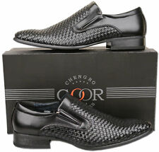 Mens New Black Slip On Leather Lined Fashion Shoes Size 6 7 8 9 10 11 12