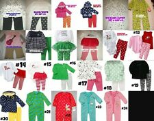 * NWT NEW GIRLS 1PC 2PC OR 3PC CARTERS HOLIDAY & WINTER PANTS JUMPER OUTFIT SET