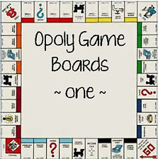 game part OPOLY game board YOU CHOOSE not complete game V1