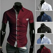 682 New Fashion Mens Slim Fit Casual Dress Shirts 5 Colors