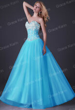 GK Sweet Ladies Sequins Ball Gown Evening Prom Cocktail Wedding Long Dress JS