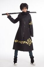 New One Piece Trafalgar Law Coat with Hat 2 years later Cosplay Costume 5 Size
