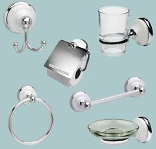 Polished Chrome Toilet Roll Holder With Ceramic Porcelain Inserts