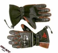 Textile Thermal Waterproof Lined Motorcycle Windproof Leather Gloves Red