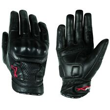 Gloves leather motorcycle knuckles Protection Summer Racing Biker Cruiser
