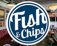 Fish and Chips Catering Sign Window Restaurant Stickers Graphics Decal #0142
