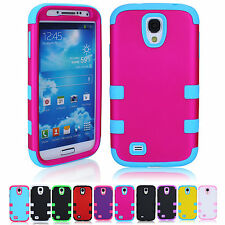 Hot Sale 3-in-1 Soft Silicone Back Hard Case Cover For Samsung Galaxy S4 i9500