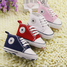 Infant Toddler Newborn Baby Boys Girls Soft Sole Crib Shoes Sneaker 0-18 Months