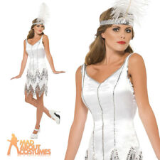 Fever Fringe Flapper Dazzle Costume Sexy 1920s Womens Fancy Dress Outfit UK 8-18