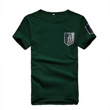 Attack on Titan Wings of Liberty Round Neck Cotton Tee T Shirt NEW Free shipping