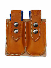 NEW Barsony Tan Leather Double Magazine Pouch Walther Steyr Compact 9mm 40 45
