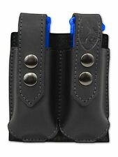NEW Barsony Black Leather Double Magazine Pouch Smith&Wesson M&P Compact 9mm 40