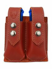 NEW Barsony Burgundy Leather Double Magazine Pouch Astra Beretta Compact 9mm 40