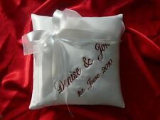 PERSONALISED wedding ring cushion / pillow 55 colours ! 15.2cm x ( 15cm 15cm)