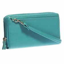 Women's Buxton Faux Leather Ultimate Double Zippered Clutch Wallet Purse