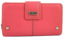 Buxton Genuine Leather Westcott Zip Organizer Bifold Credit Card Clutch Wallet