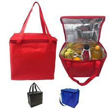 COOLER PICNIC BEER DRINK WATER LUNCH BAG BAGS BOX FOIL INSULATED 11 x 10""