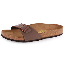 Birkenstock Madrid Womens Synthetic Leather Brown Sandals New Shoes All Sizes