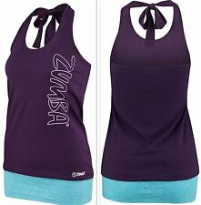 ZUMBA FITNESS DANCE! Bubble Halter Top Tee Shirt Tank ~CUT iT Up...for Edgy Look
