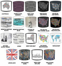 World Places Cities Typography Table Lamp Shades Or Ceiling Lights Lampshades
