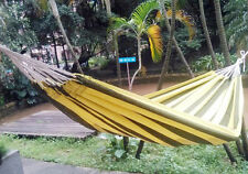 Hammock Hiking Camping Bed Indoor Outdoor Cotton Swing 1.5m Wider Single bag