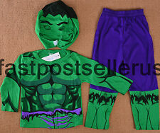 2-7 Hulk Hero Boys Kids 3pc Costume Set Halloween Party Dress Up Outfit Cosplay