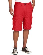 NEW True Religion Brand Jeans Mens Samuel Cargo Shorts Red Tonal Big T Thread 30