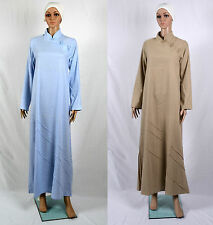 Abaya Jilbab Islamic Dress Kaftan Linen Size S,8,54 Cool for Summer Comfortable