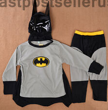 2-7 Batman Boys Kids 3pc Costume Set Halloween Party Dress Up Outfit Cosplay