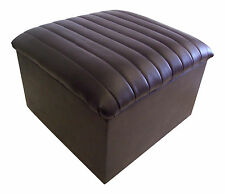 Large Quilted Top Faux Leather Storage Box / Pouffe / Footstool Various colours