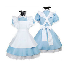 Fashion Alice in Wonderland Cosplay Girl Lolita French Maid Costume Sexy Dress