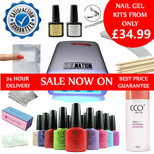 NEW - CCO UV Nail Gel Starter Kit - Manicure Set - 36W Lamp + CND Shellac Wraps