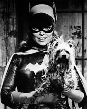 YVONNE CRAIG BATMAN HOLDING DOG PHOTO OR POSTER