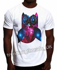 OWL TSHIRT GALAXY COSMIC SPACE HIPSTER OVO XO OWL NEW TOP