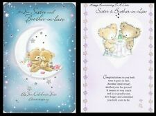 SISTER and BROTHER-IN-LAW ~ Anniversary Card ~ With FABULOUS VERSES