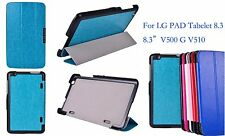 """PU Leather Stand Case Protector Cover Skin F LG PAD Tablet 8.3 8.3"""" V500 G V510"""