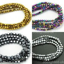 Natural Hematite Gemstone 18 Faceted Bicone Cone Beads Coated Color 4mm 5mm 16""