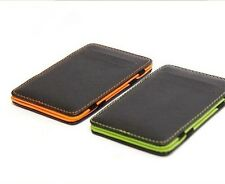 Stylish minimalist lightweight leather ID wallet bank card pack card pack