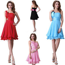 Summer Pretty Short Bridesmaid Cocktail Wedding Celebrity Party Dresses Gown a1