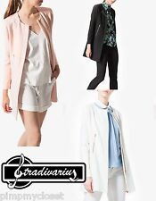 STRADIVARIUS (ZARA GROUP) FORMAL COAT WHITE/PINK/BLACK R. 02661209 BNWT