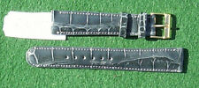 16mm & 18mm Gray Genuine Real Crocodile Watchband Bands Strap Made USA