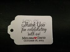 30 60 120 Wedding Favor Tags Personalized Thank You Celebrate Buy 2 Get 1