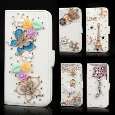 Luxury PU Leather Crystal Diamond Rhinestone Wallet Case for Apple/Sumsang Phone